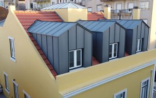 Prédio Alcântara telhado Globiprata Engenharia e Construção